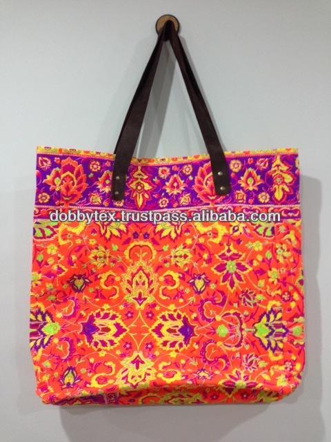 13954aa4f Best Selling Thailand Canvas Big Tote Bag Neon Print 45x45 Cm - Buy ...