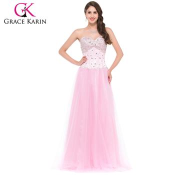 Vestido rosa largo novia