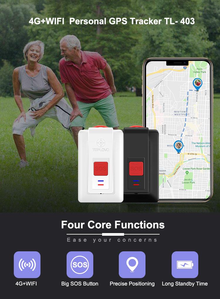 Portable en temps Réel L'homme Patient Âgé Plus Petite Puce De Suivi GPS Avec Alarme de Chute Traqueur De 4G GPS