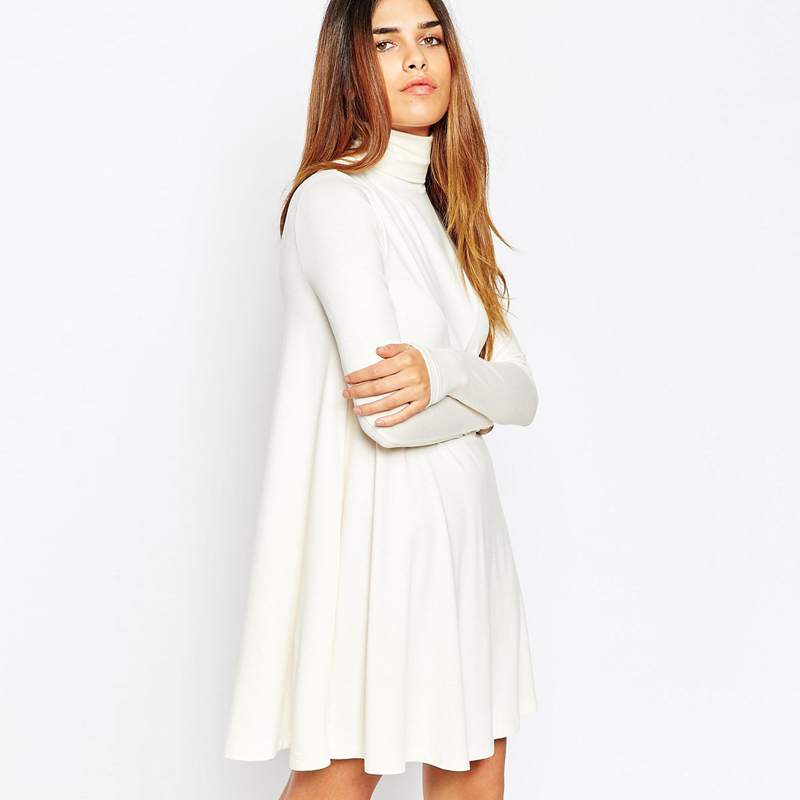 Only US$, shop Casual Solid Long Sleeve Turtleneck Mid-long Women Dresses at jwl-network.ga Buy fashion Casual Dresses online.