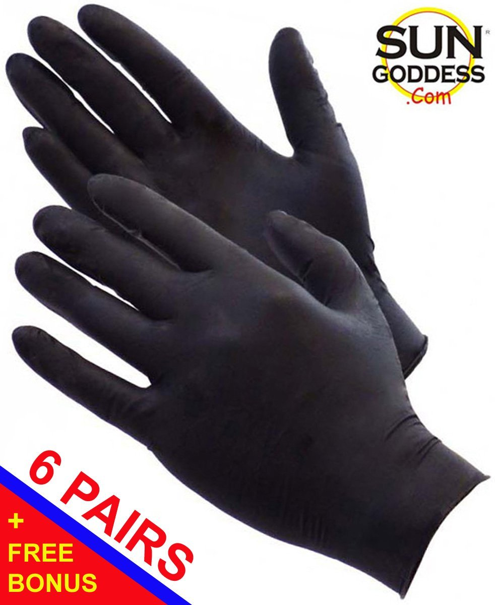 Sun Goddess - SIX (6) PAIRS - Sunless Self Tanning Application Gloves + (1) Sunless Self Tanning Applicator Mitt + (1) Sun Goddess Sunless Self Tanning Lotion Sample - The Best Sunless Self Tanner