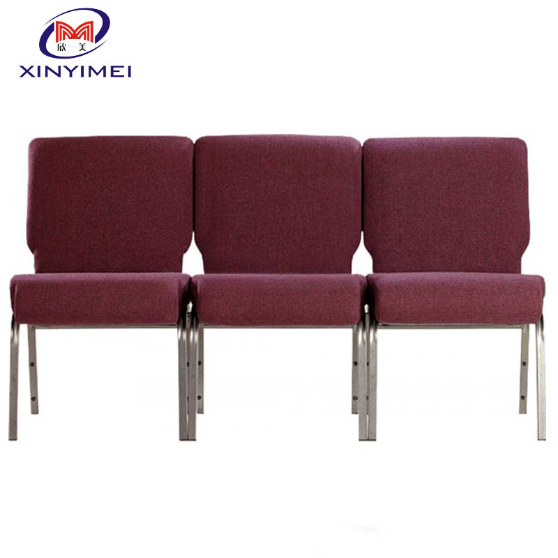 High Quality Stacking Padded Church Pew Chair