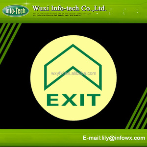 luminescent disc exit non slip floor signs and tapes