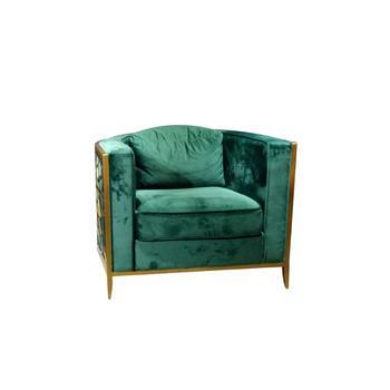 Luxus Italien Design Wohnzimmer Lesesofa Stuhl Arm Einsitzer Samt Stoff Freizeit Stuhl Modern Buy Freizeit Stuhl Morden Grun Samt Freizeit