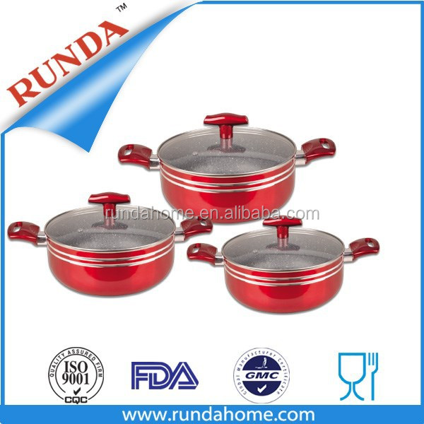 HOT SELLING Non-stick metallic pot set