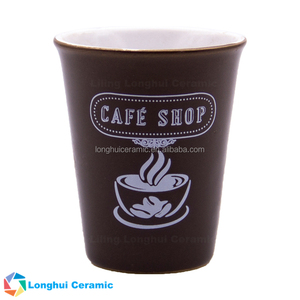 3oz custom printed small ceramic tea cup coffee mug without handle