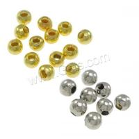 bronze crimp beads Brass Round plated 2mm Hole:Approx 0.5-0.8mm 10000PCs/Bag 1094243