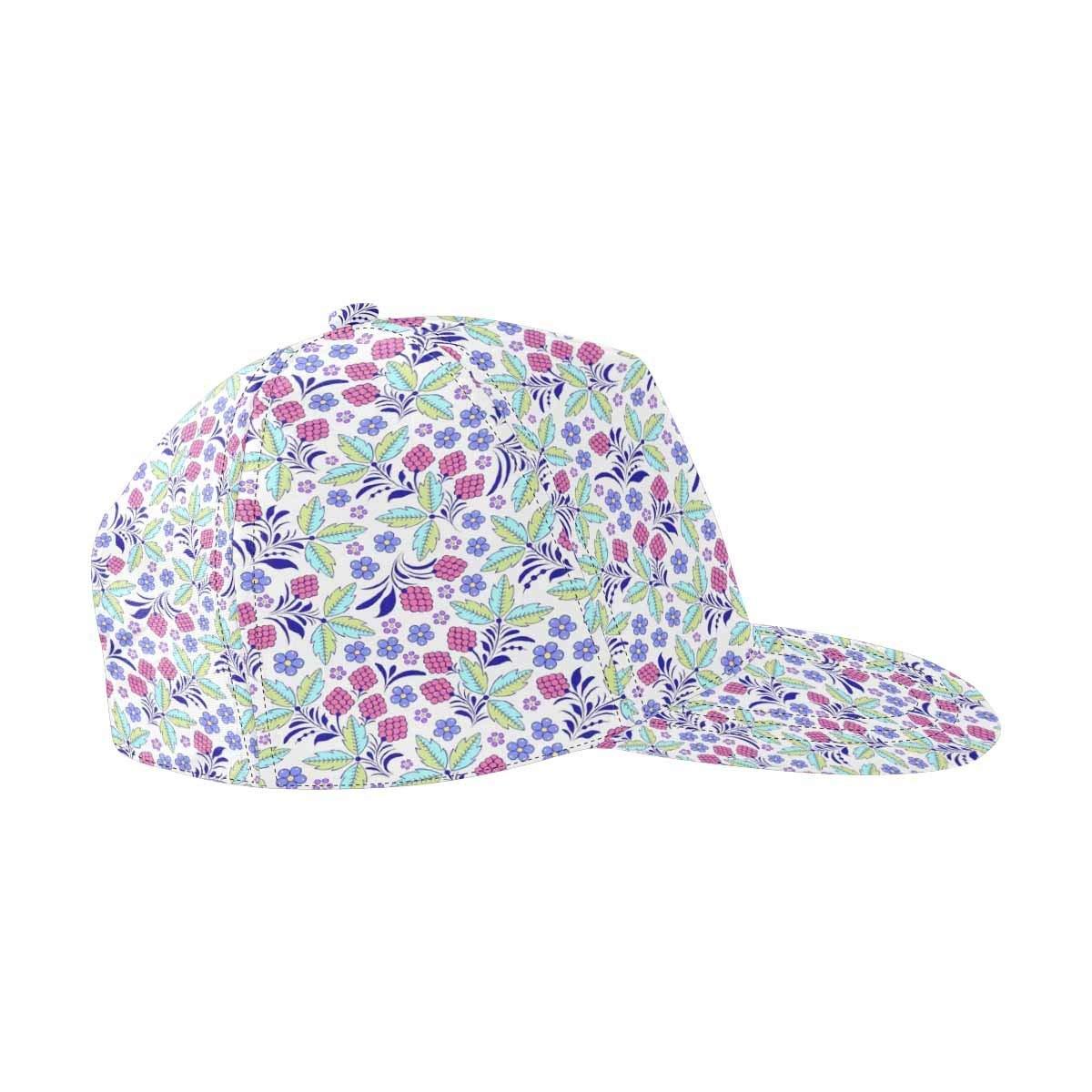 Get Quotations · InterestPrint Colorful Floral Snapback Hats for Men Hip  Hop Hats Flat Brim Hats Flat Bill Caps f48d39a4b74d