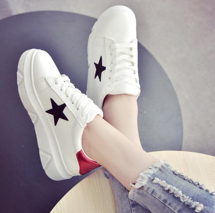 White Colour Girls School Shoes Pu Leather Popular Girls Casual Shoe