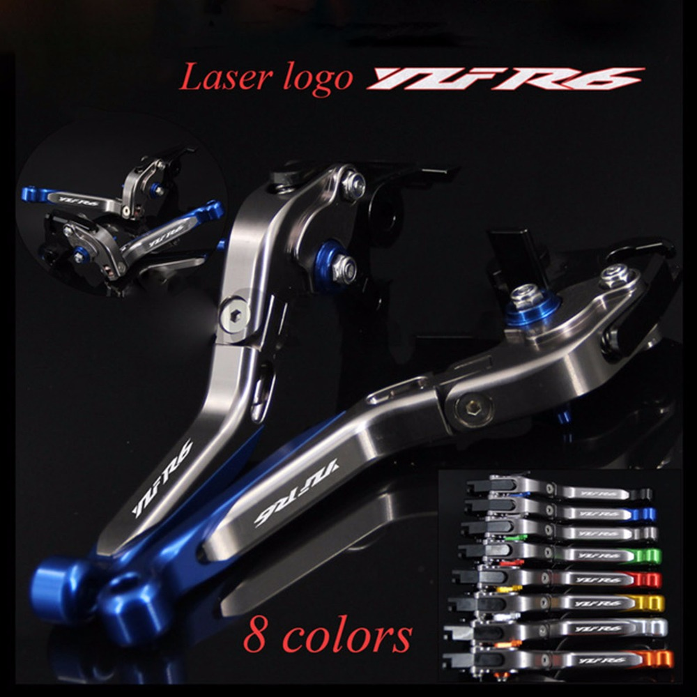 Adjustable Brake Clutch Levers For YAMAHA YZF R6 1999-2020 Folding Extendable