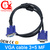 Black and black color high quality factory cable price vga cable specification