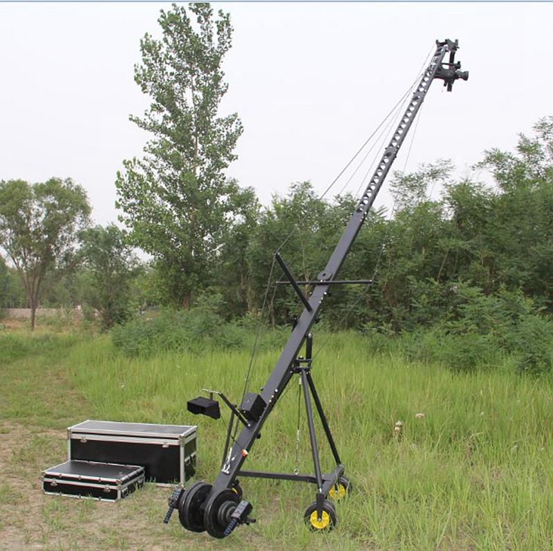 Factory Supply 10m 3-axis Motorized Head Portable DSLR Video Camera Jib Crane For Film Shooting