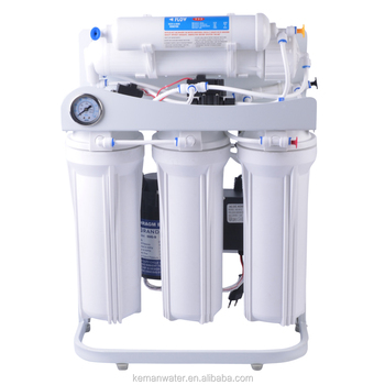Water filter reverse osmosis machine with pressure gauge