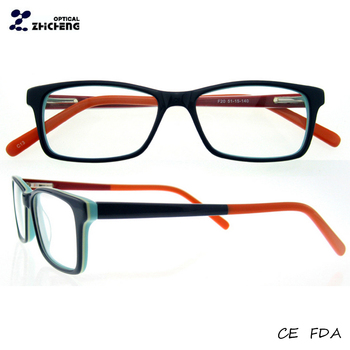 New Patchwork Italy Design Eyeglasses Blue Spring Hinge Acetate ...