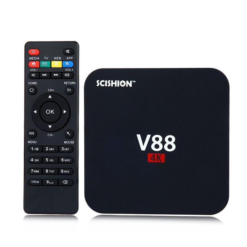 Kotak TV RK3229 Android 5.1 TV Kotak V88 V88 1 GB 8 GB 2.4G 100 M Ethernet Smart Media Player V88