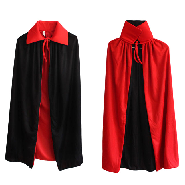 Free shipping Halloween dress up adult children's day, children dress up wizard cloak Magic cloak vampire cape Red cloak