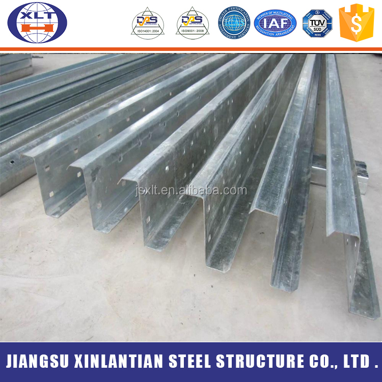 Best products Q235B cold rolling steel structure Z shape purlins sizes philippines price