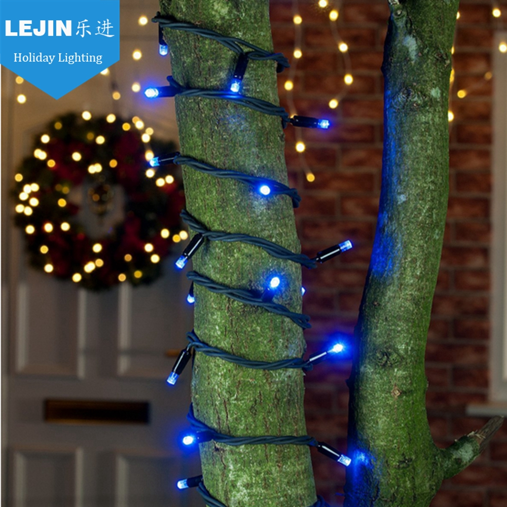 Large lighted outdoor christmas ornaments - Blue Outdoor Led Tree Light