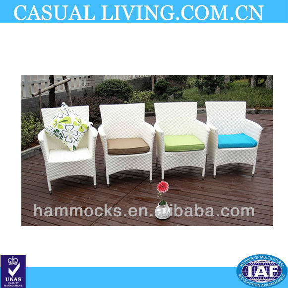 Outdoor garden chair white rattan wicker furniture patio leisure chairs