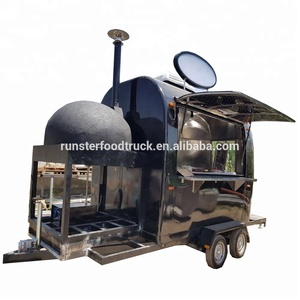 304 Stainless steel food truck mobile pizza carts High quality food truck pizza trailer for sale