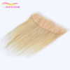 blonde silk base closure blossom bundles virgin hair bundles with blowout weave hair extension for black women