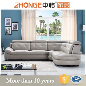 China Import Lounge Furniture Leather L Shaped Sofa