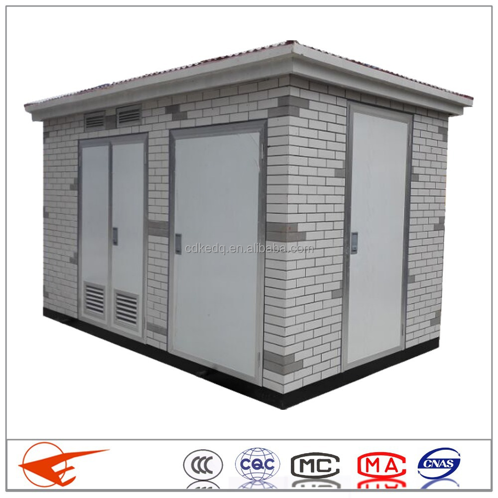 high quality outdoor 10KV power transformer Box-type substation price