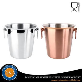 Factory Price Aluminum Ice Bucket Wine Metal Handle