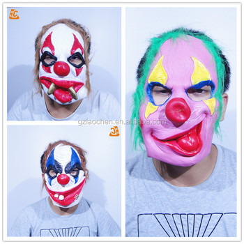 Halloween Party Chucky Custom Funny Face Joker Mask Scary Nose Realistic Cosplay Rubber Mask Anime Latex Clown Mask Buy Clown Mask Latex Clown