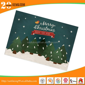 Wholesale custom paper printed greeting card with logo and design