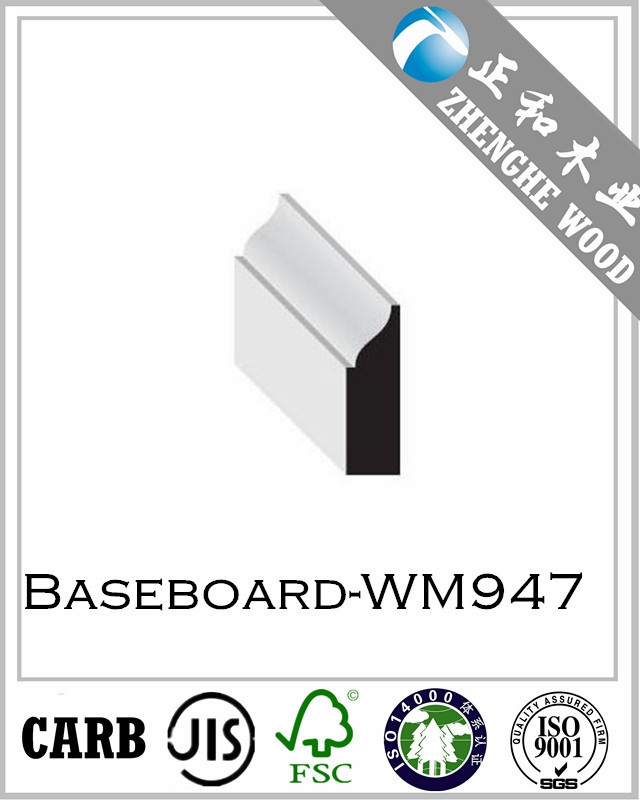 Baseboard molding -WM947/MDF moulding/Decorative Ceiling Wood Trim Colonial Wood Mouldings