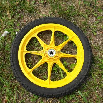 16 Inch Pneumatic Plastic Garden Cart Wheels