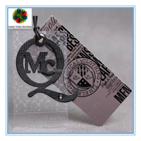 Unique fancy paper hang tags design for kids garment 2014