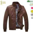 Men's leisure PU leather windbreaker jacket
