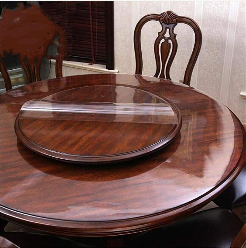 FFJTS Transparent soft glass tablecloths round tablecloths PVC crystal plate tablecloths plastic soft plate waterproof table mat , 6060