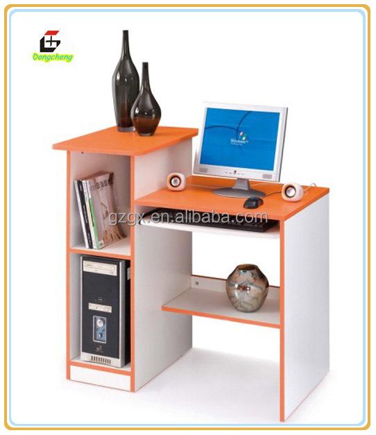 Petit bois table ordinateur de bureau pour tude table en - Petit bureau ordinateur ...