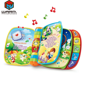 11 button sound mould Children board book/Music education child book printing