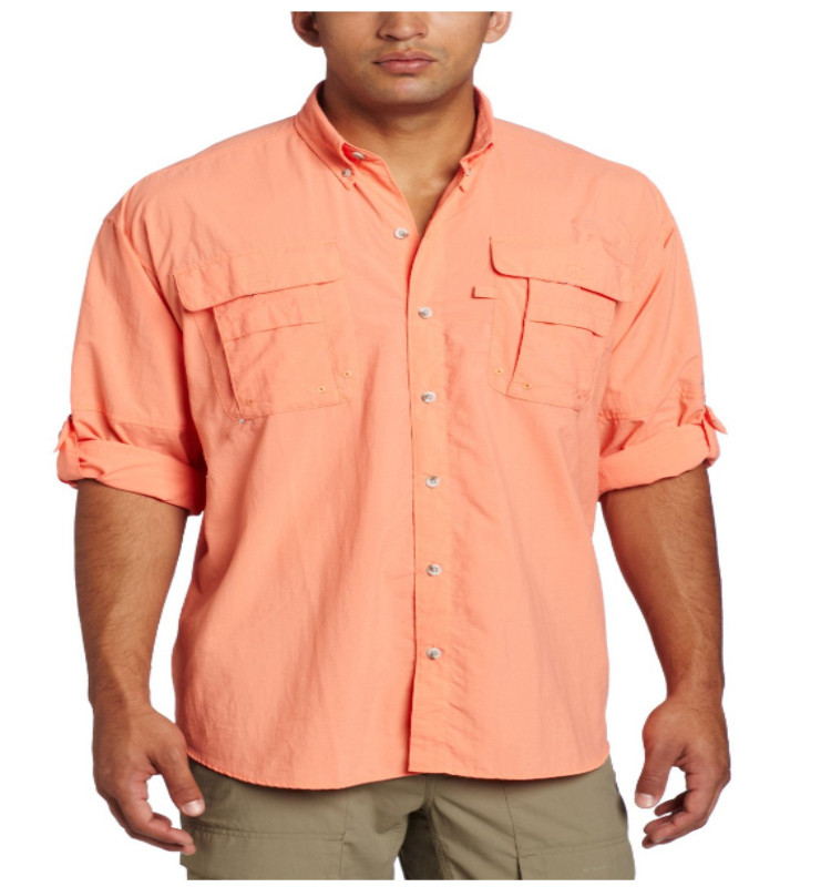 Men's Short Sleeve/ Long Sleeve Breathable Fishing Shirt with front Pockets