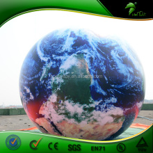 High Quality Inflatable 3D Earth Model, UV Printing Inflatable Planet Balloon for Sale