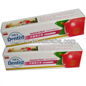 120g Halal passion fruit toothpaste OEM