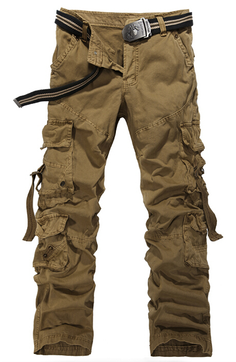 700ea34610 Get Quotations · 2015 High Quality Men's Cargo Pants Casual Multi Big  Pocket Military Overall for Men Outdoors Jogging