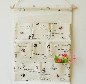decorative foldable bulk over the door hanging organizer storage bag with different pattern