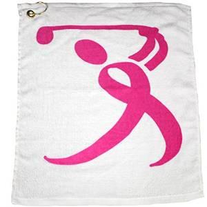 Giggle Golf Pink Ribbon Golfer Golf Towel