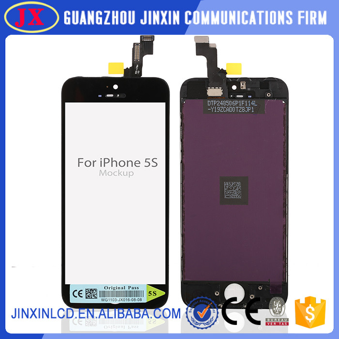OEM For iphone screen wholesale 2016 for iphone 5s LCD touch screen display