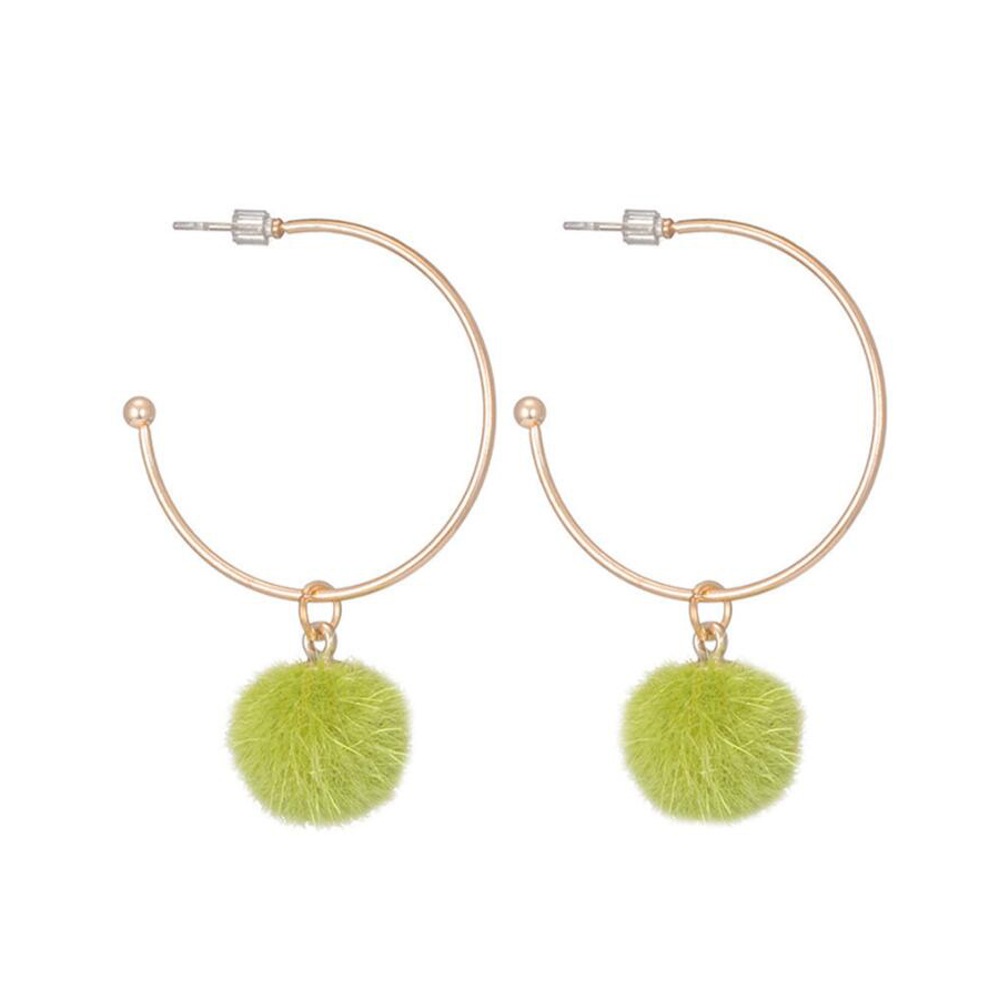 Newest Cute Gold Earrings Design Hoop Rings With Colors Party S Cool Earring Green Saudi