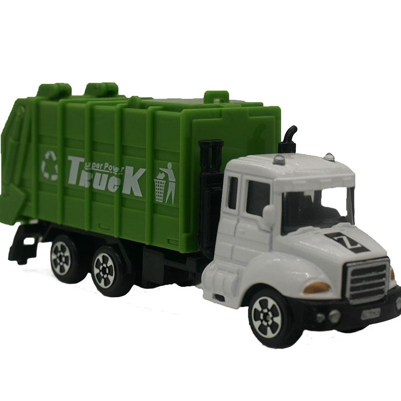 Coche Para De Soporte Mini Basura NiñoslWH174 Aleación 1 64 Juguetes Ingeniería Regalo Exhibición Modelo Verde Camión Coches 34AjScqL5R