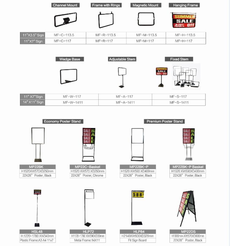 Kunststoff-plakatbrett Rahmen Zeichen Preis Ständer Einstellbare ...