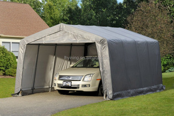 metal auto snow shelter canopy carport car garage tent 12x20ft - Carport Canopy