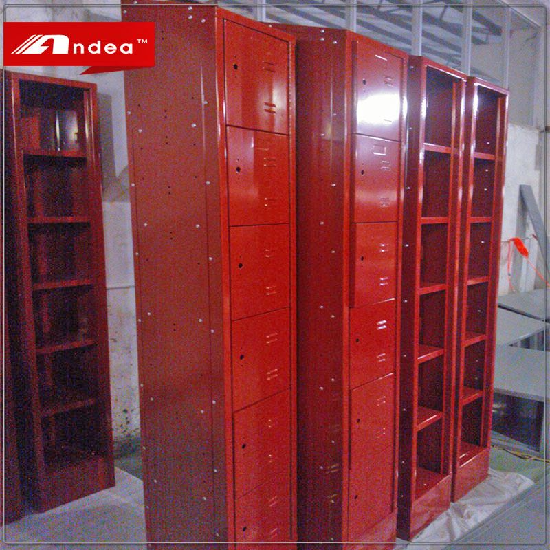 High quality assembled metal locker steel cabinet customized size for sale and manufacture in Guangdong province