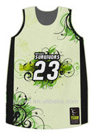 Latest Sublimation Basketball Uniform Free Design